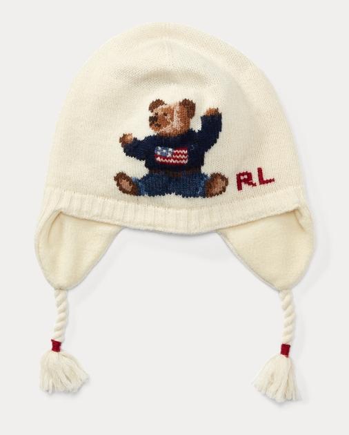 ce317550cf Polo Bear Merino Earflap Hat