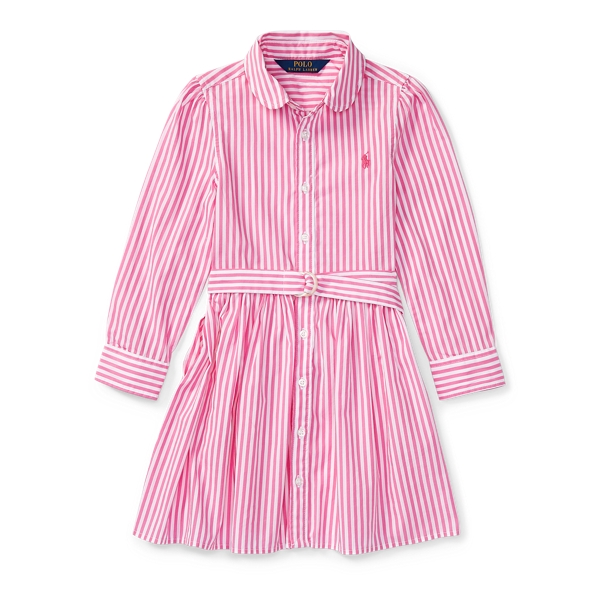 Ralph Lauren Striped Cotton Shirtdress Pink/White 6