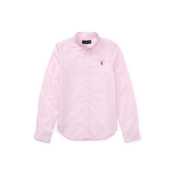 폴로 랄프로렌 걸즈 옥스포드 셔츠 Polo Ralph Lauren Cotton Oxford Shirt,Deco Pink