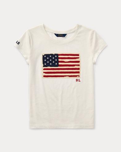 T-shirt graphique en coton délavé