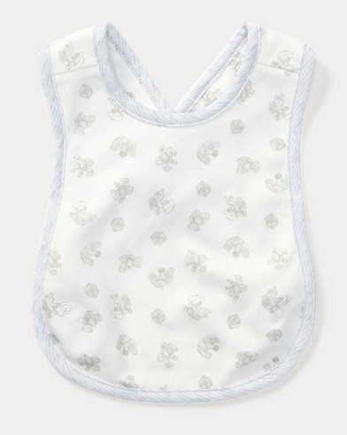 Toy-Print Cross-Back Bib