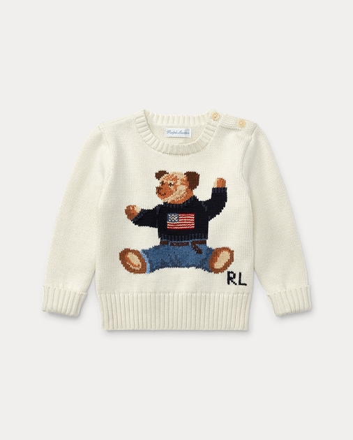 58fc1b9cb Polo Bear Cotton Sweater | Sweaters Baby | Ralph Lauren