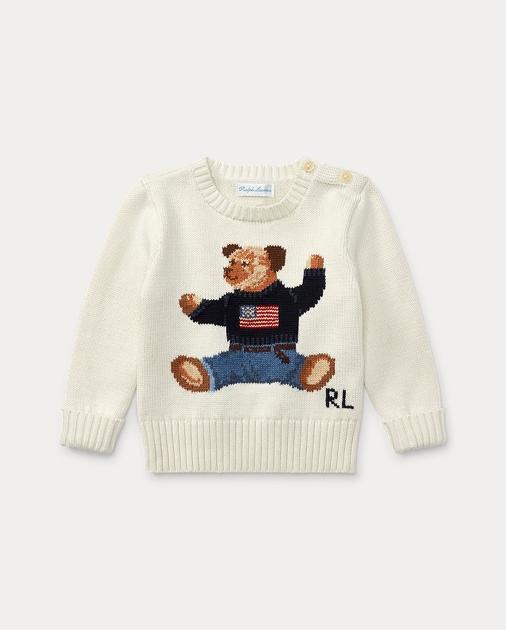 63d72fec783dc Baby Boy Polo Bear Cotton Sweater 1