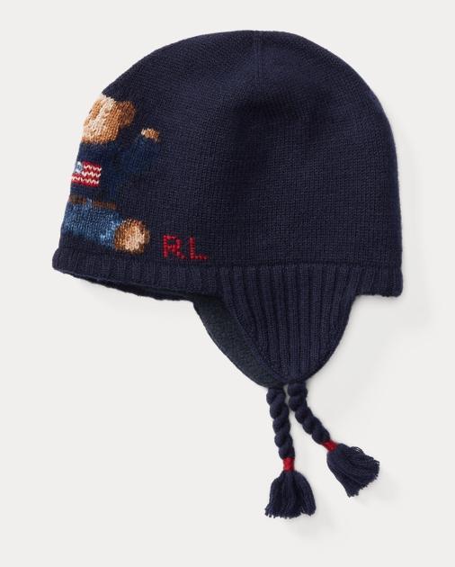 66861a75069 Baby Boy Polo Bear Merino Earflap Hat 1