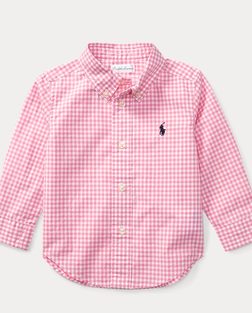 055bcc419 Gingham Cotton Poplin Shirt | Button-Downs & Bow Ties Baby | Ralph ...
