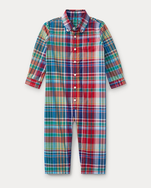 0dd31a9be Plaid Cotton Poplin Coverall | One-Pieces Baby | Ralph Lauren