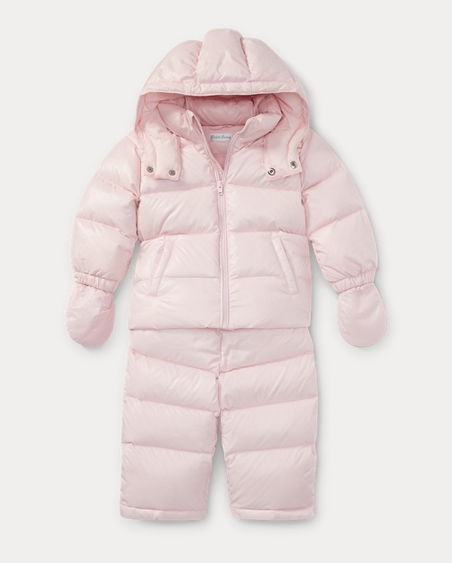 f3fc8907e Baby Girl Hooded Down Snowsuit 1