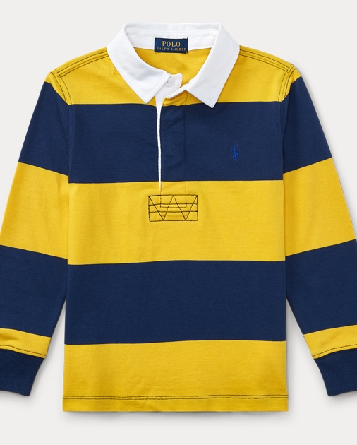 8c5b4dd4f07 Striped Cotton Rugby Shirt | Long Sleeve Polo Shirts | Ralph Lauren