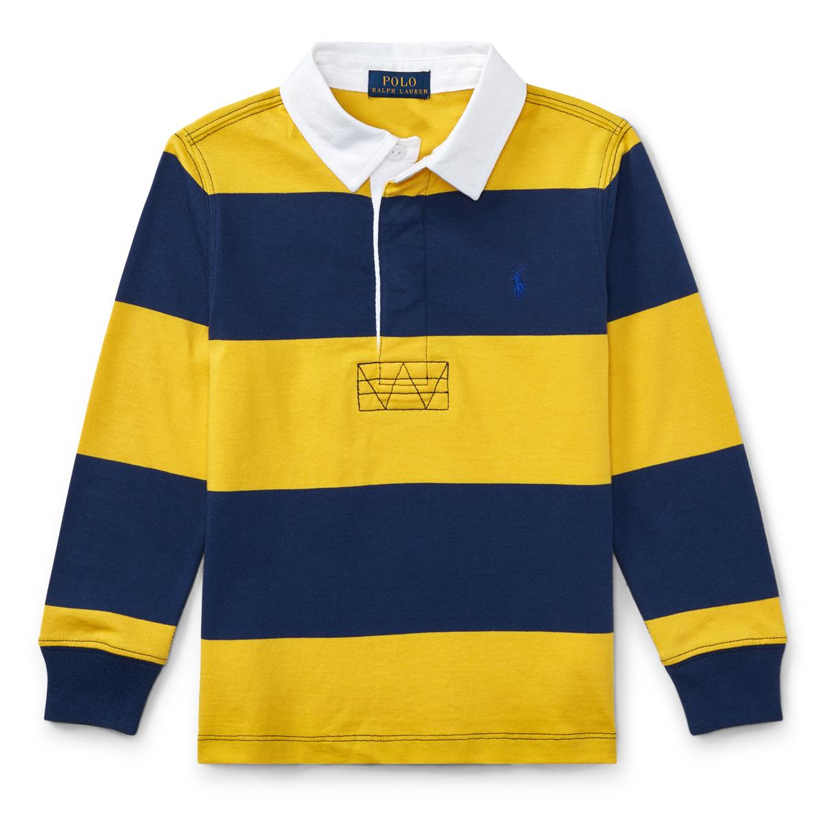 65ef523802e Striped Cotton Rugby Shirt | Long Sleeve Polo Shirts | Ralph Lauren