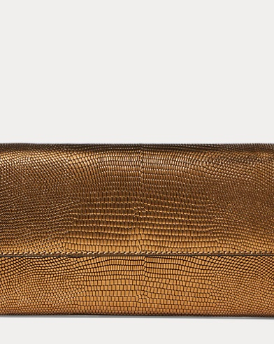 Lizard-Embossed Chain Wallet