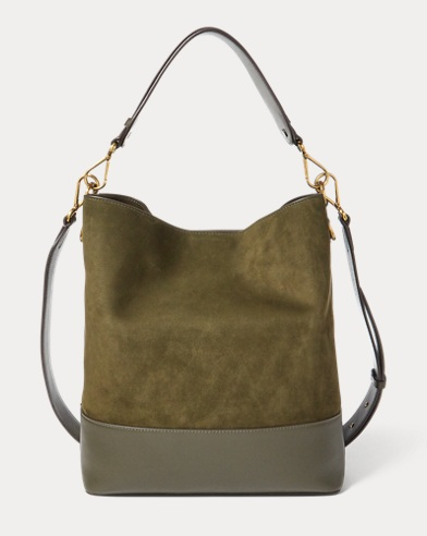 Nubuck Leather Hobo Bag