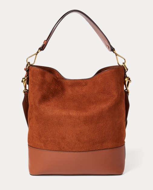 Nubuck Leather Hobo Bag Hobos