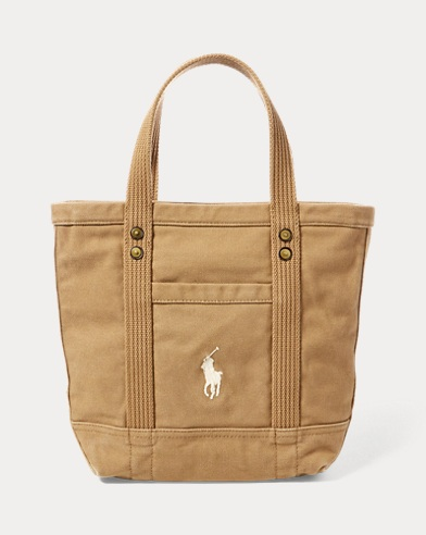 12988744ec Small Canvas Big Pony Tote. ONLINE EXCLUSIVE. Polo Ralph Lauren