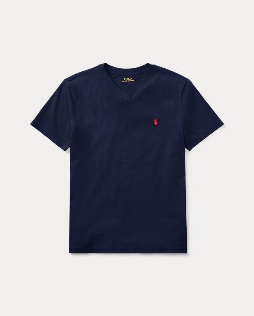 ff887e3b BOYS 6-14 YEARS Cotton Jersey V-Neck T-Shirt 1