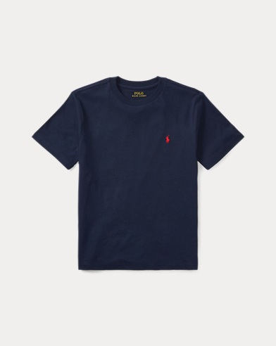 폴로 랄프로렌 보이즈 티셔츠 Polo Ralph Lauren Cotton Jersey Crewneck Tee,Cruise Navy