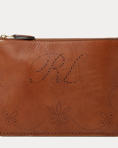 Perforated Luxe Calf Pouch