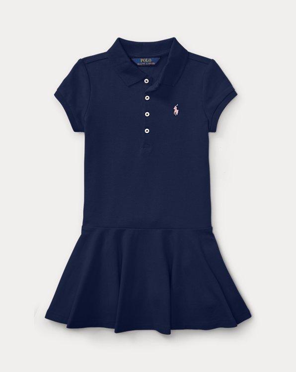폴로 랄프로렌 여아용 원피스 Polo Ralph Lauren Short-Sleeve Polo Dress,Navy