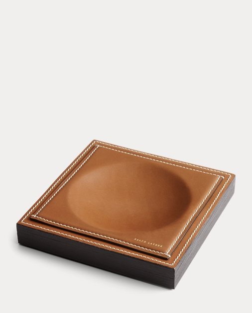 Brennan Leather-Teak Catchall