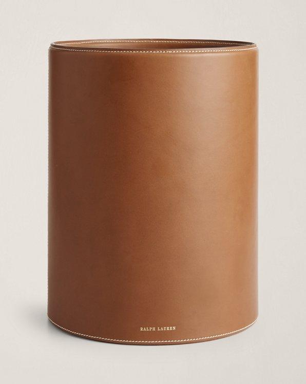Brennan Leather Waste Bin