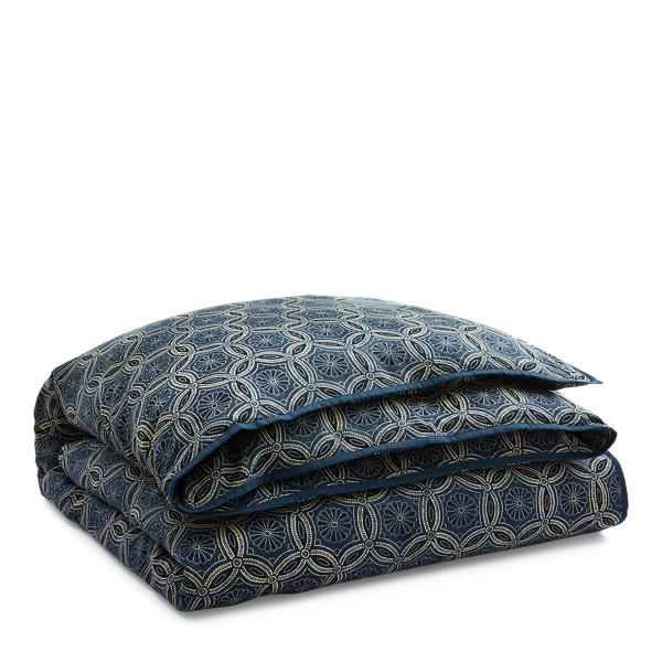 Ralph Lauren Moore Slub Cotton Duvet Cover Blue Full/Queen