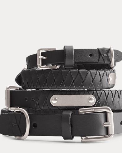 Sable Woven Leather Dog Collar