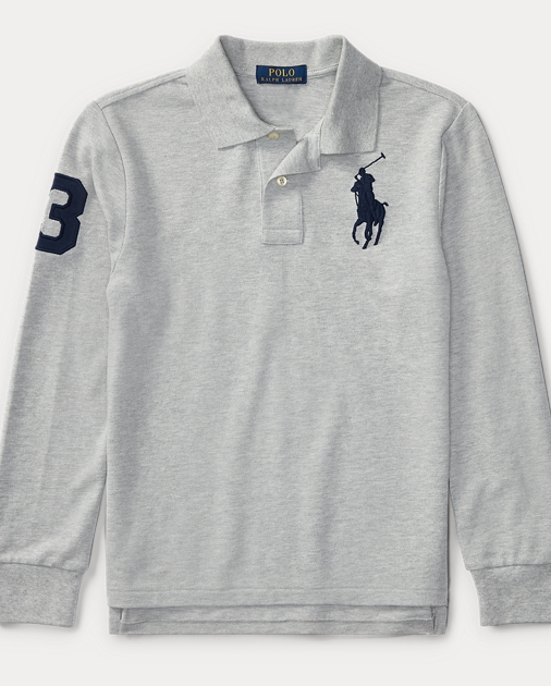 b1098e6edd95 Custom Fit Cotton Mesh Polo | Long Sleeve Polo Shirts | Ralph Lauren