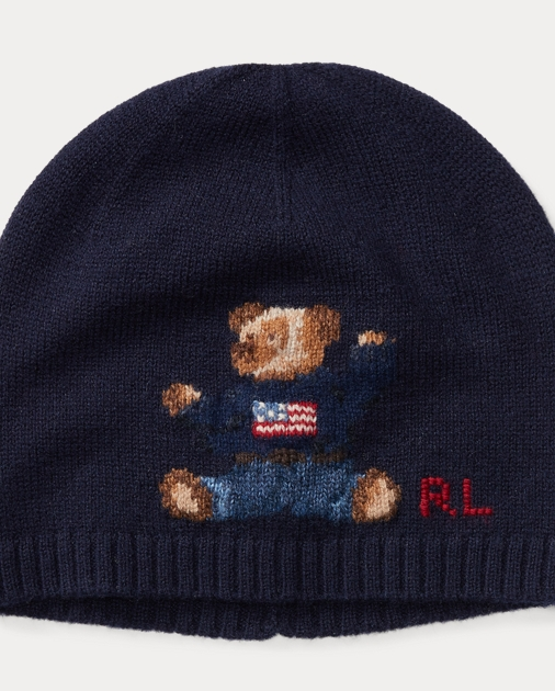 a5417ade720 Boys 8-20 Polo Bear Merino Wool Hat 1