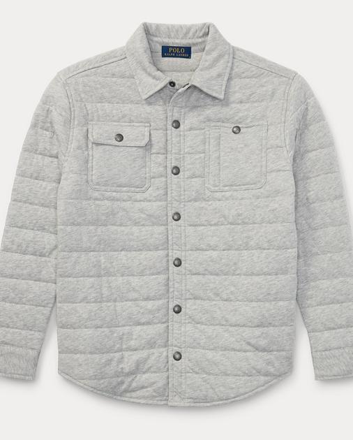 2fe44a8883 Quilted Jersey Shirt Jacket | Jackets & Coats Boys' 8-20 | Ralph Lauren