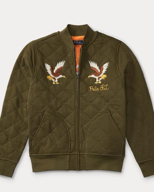 529865acc3 Quilted Cotton Bomber Jacket | Jackets & Coats Boys' 8-20 | Ralph Lauren