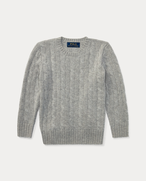 48f49accb37b6 BOYS 1.5-6 YEARS Cable-Knit Cashmere Jumper 1