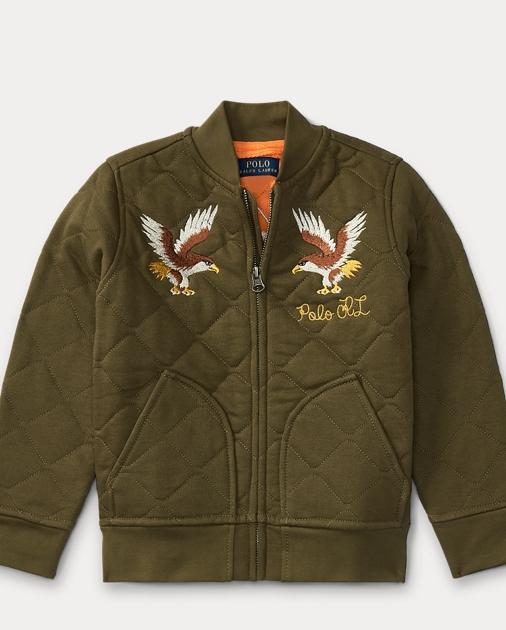 Quilted Cotton Bomber Jacket Jackets Coats Boys 2 7 Ralph Lauren