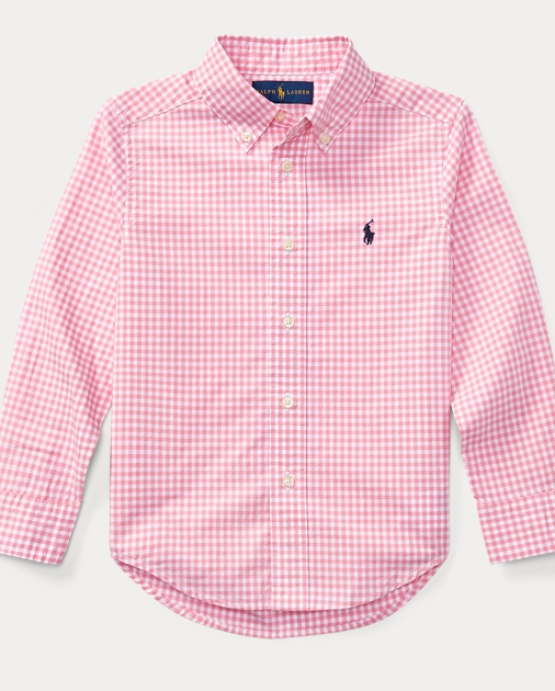 0a98e5b9 Gingham Cotton Poplin Shirt | Long Sleeve Casual Shirts | Ralph Lauren