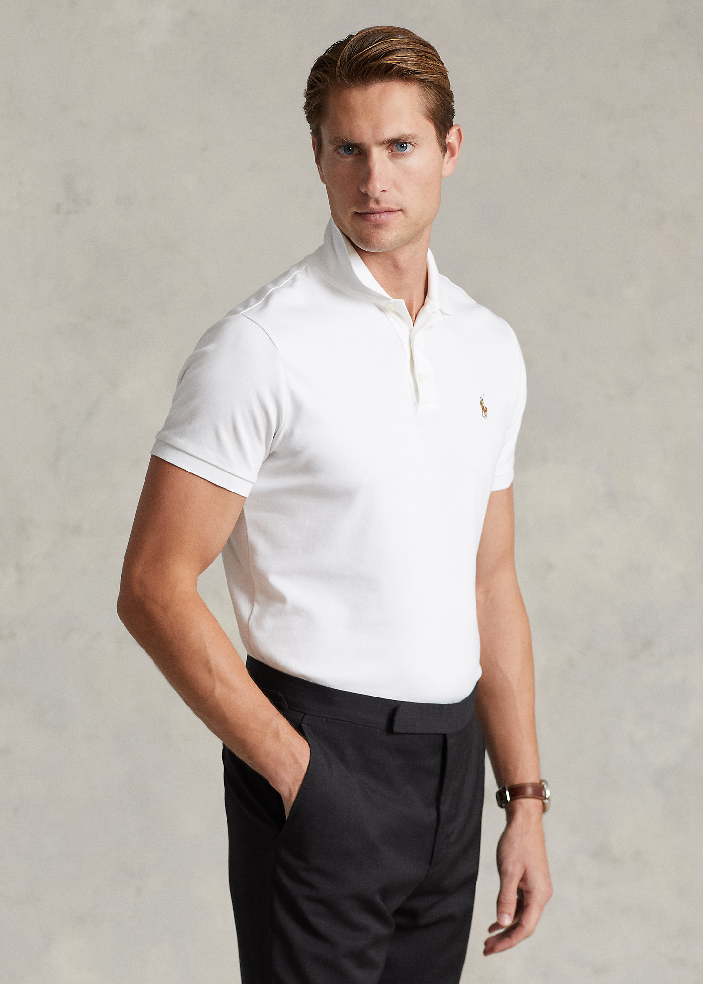 Polo Ralph Lauren Soft Cotton Polo Shirt - All Fits 1