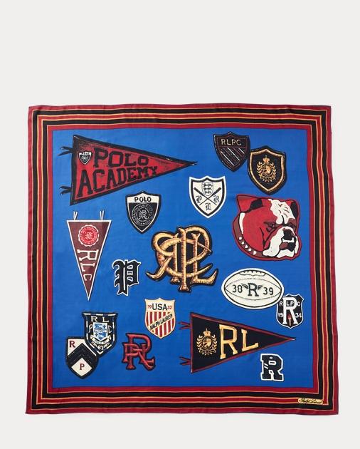 ee3be33333db8 Polo Crest Silk Scarf