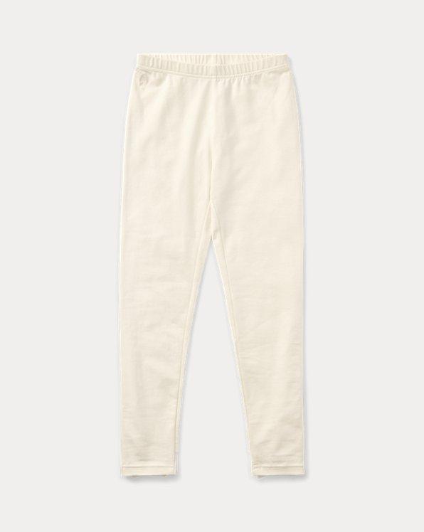 폴로 랄프로렌 걸즈 레깅스 Polo Ralph Lauren Bow-Back Jersey Legging,Olympia Cream
