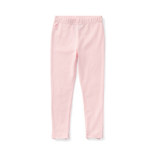 폴로 랄프로렌 여아용 레깅스 Polo Ralph Lauren Bow-Back Jersey Legging,Hint Of Pink