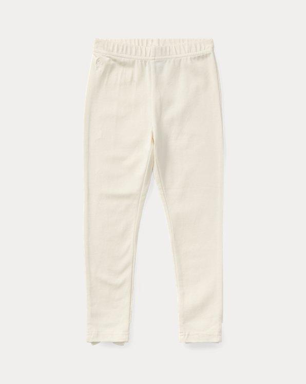 폴로 랄프로렌 여아용 레깅스  Polo Ralph Lauren Bow-Back Jersey Legging,Olympia Cream