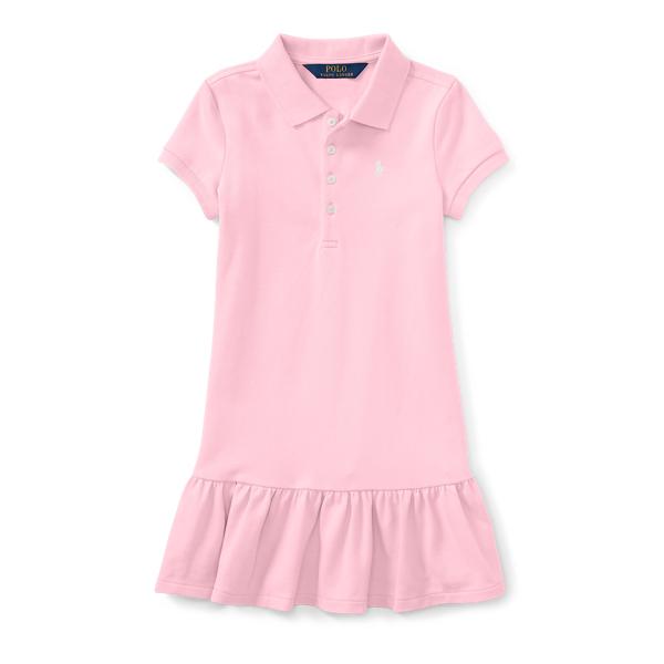 Ralph Lauren Girls' Polo Dress Hint Of Pink 2T