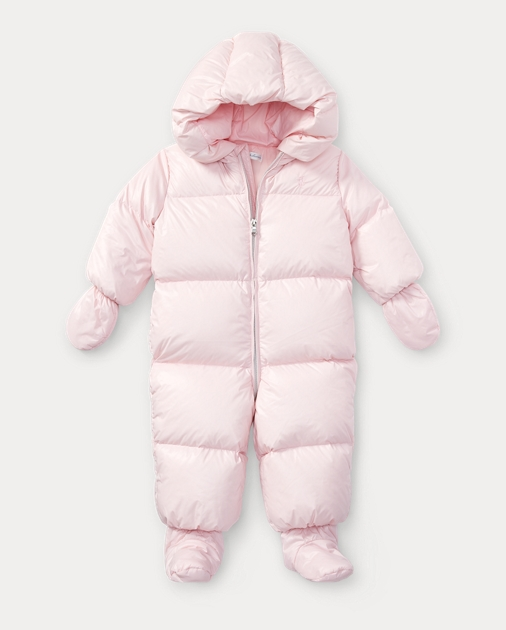 5bd6ed1b7 Baby Girl Quilted Down Snowsuit 1
