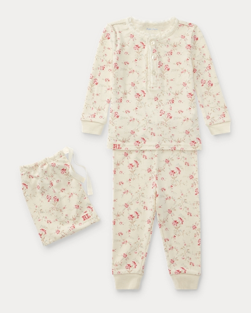 9b06f539 Floral Toile Cotton Pajama Set | Outfits & Gift Sets BABY GIRL (0-24 ...