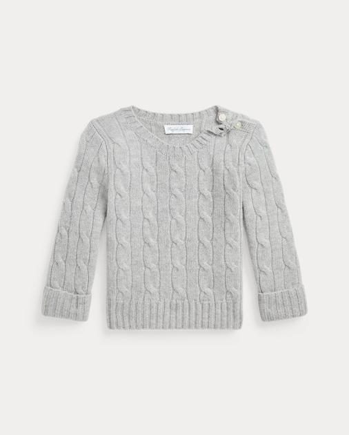 2dbb8b16e Baby Cable-Knit Cashmere Sweater 1
