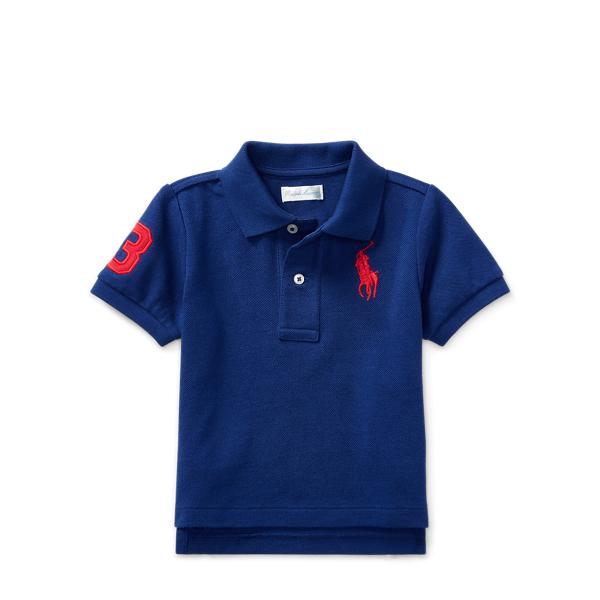 Ralph Lauren Cotton Mesh Polo Shirt Royal American 18M