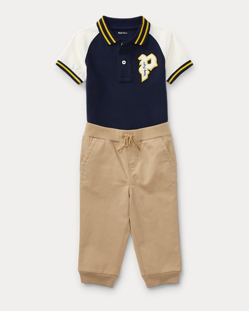 ddf787db4 Baby Boy Polo Shirt   Jogger Set 1