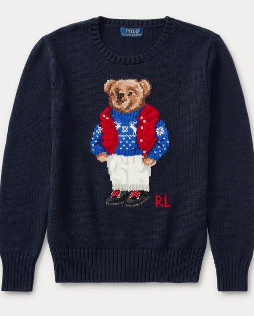 7d912af09aba Boys 8-20 Polo Bear Cotton Sweater 1