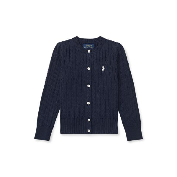 폴로 랄프로렌 Polo Ralph Lauren Mini-Cable Cotton Cardigan,헌터 Hunter Navy