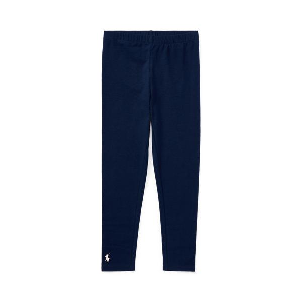 폴로 랄프로렌 걸즈 레깅스 Polo Ralph Lauren Stretch Cotton Jersey Legging,Navy