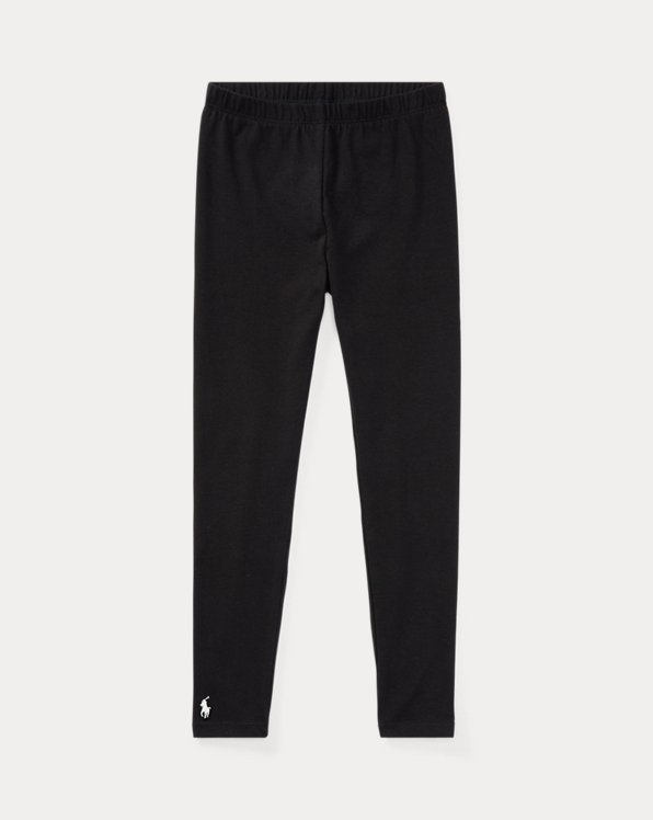 폴로 랄프로렌 여아용 레깅스 Polo Ralph Lauren Stretch Jersey Legging,Polo Black