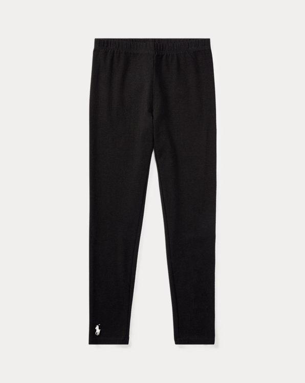 폴로 랄프로렌 걸즈 레깅스 Polo Ralph Lauren Stretch Cotton Jersey Legging,Polo Black