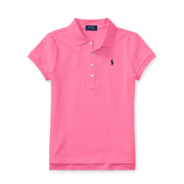 Ralph Lauren Stretch Mesh Polo Shirt Baja Pink S