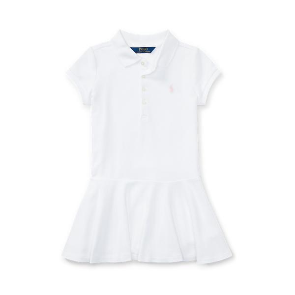 폴로 랄프로렌 여아용 원피스 Polo Ralph Lauren Short-Sleeve Polo Dress,White